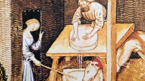 Risultati immagini per il grana formaggio medioevo