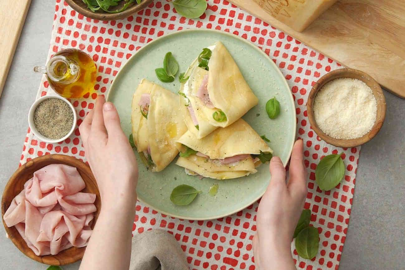 Crepes with Ricotta and Grana Padano