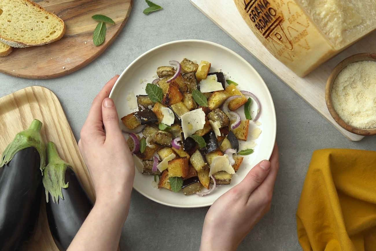 Toasted Bread Panzanella with Grana Padano