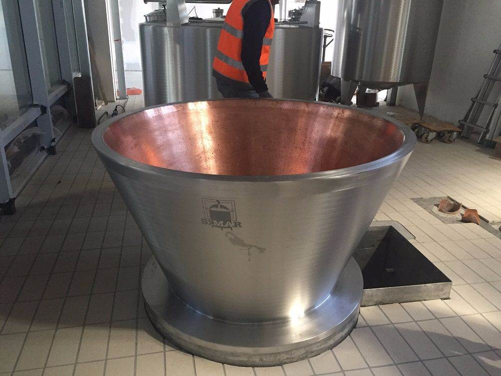 Traditional copper vat