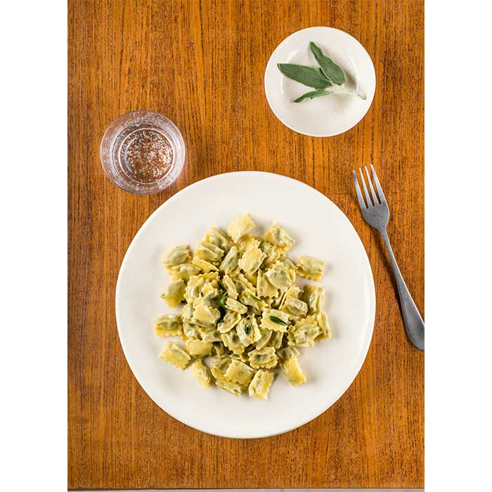Agnolotti del plin with melted butter
