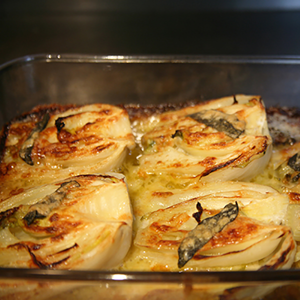 Baked fennel with sage
