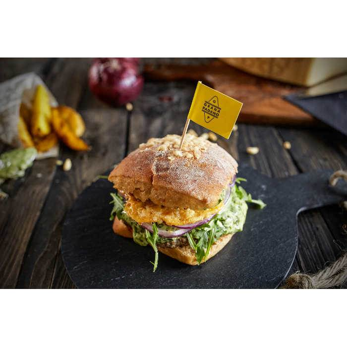 Italianburger mit Grana Padano