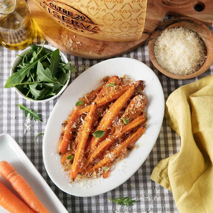Sandy Carrots with Grana Padano Riserva