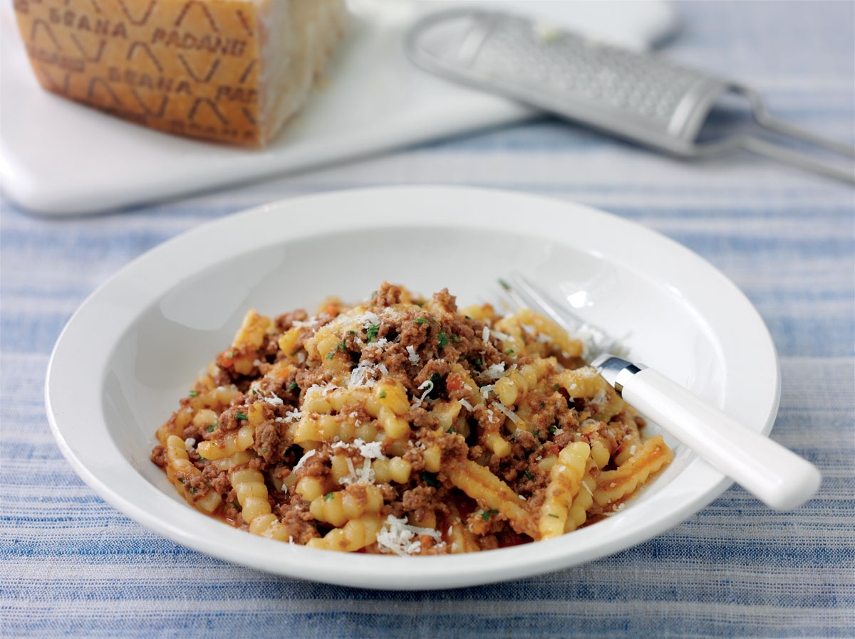 Cavatelli pasta and welsh lamb ragout with Grana Padano