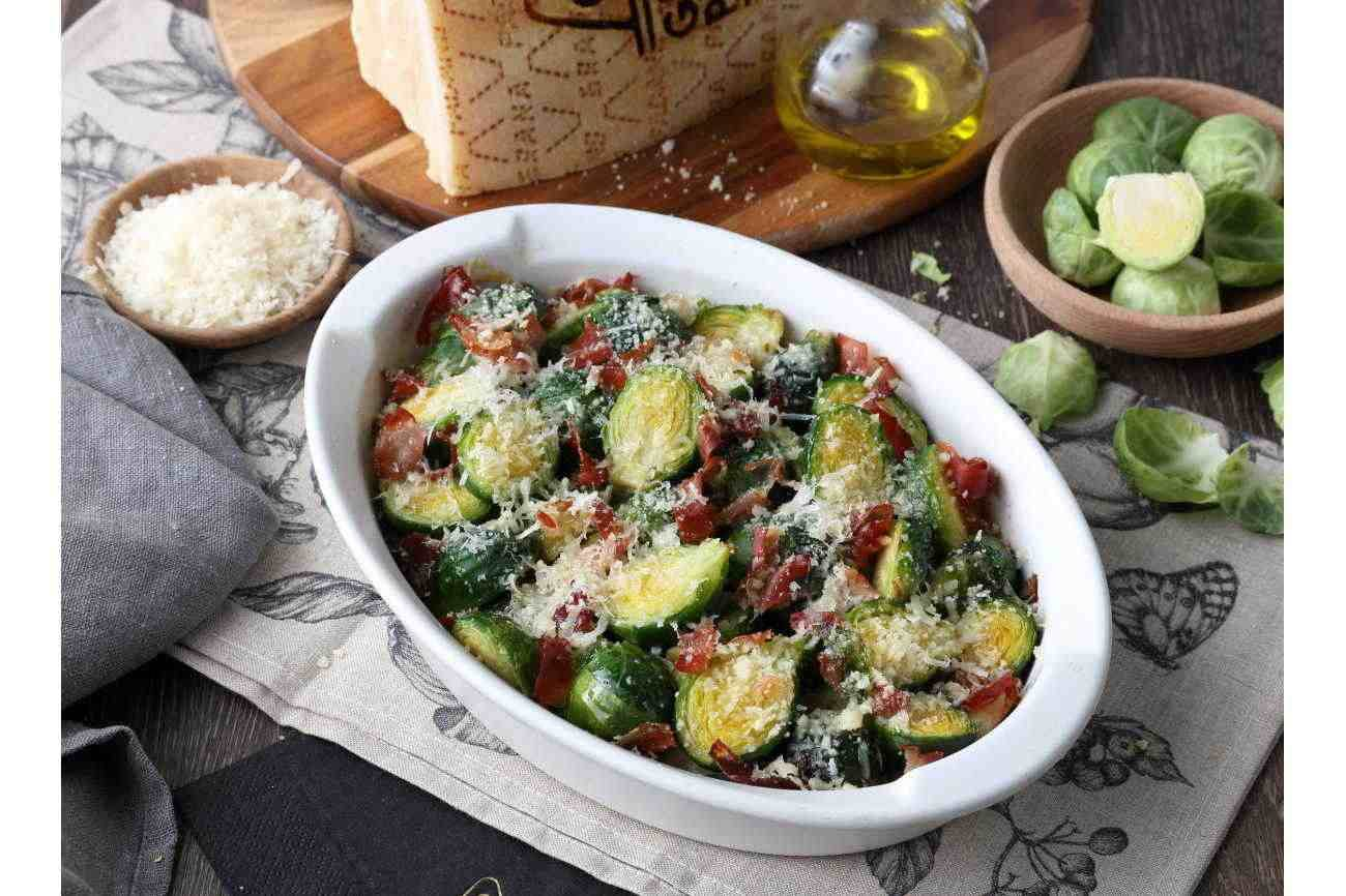 Brussel Sprout Gratin with Speck and Grana Padano PDO
