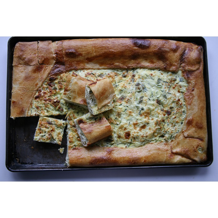Rice and zucchini crostata