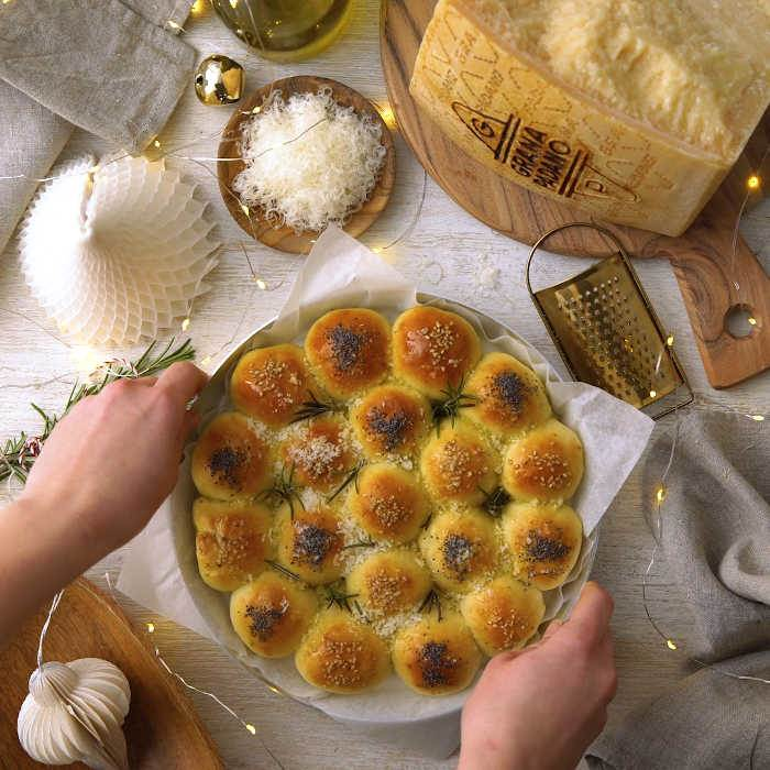 Festive bread with Grana Padano