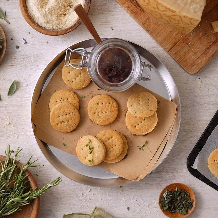 Savoury Shortbread with Herbs and Grana Padano Riserva