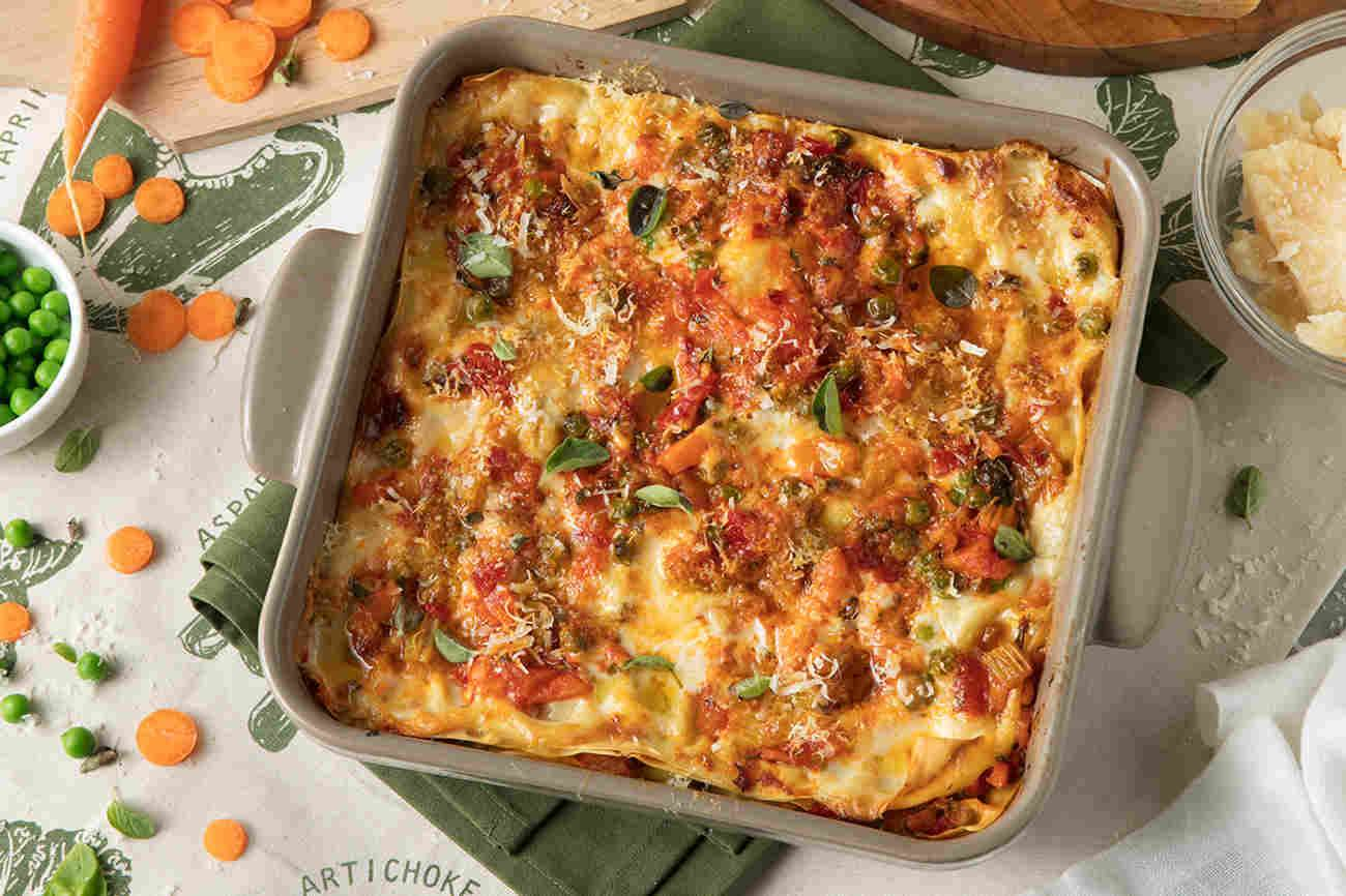 Lasagna with Vegetable Sauce and Grana Padano Riserva