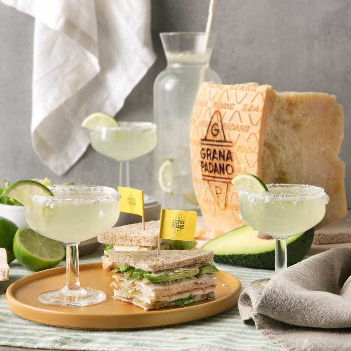 Margarita and Avocado, Chicken and Grana Padano Sandwich