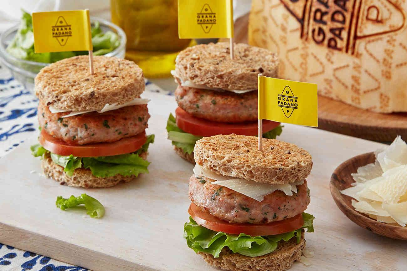Mini Turkey Burgers with Grana Padano