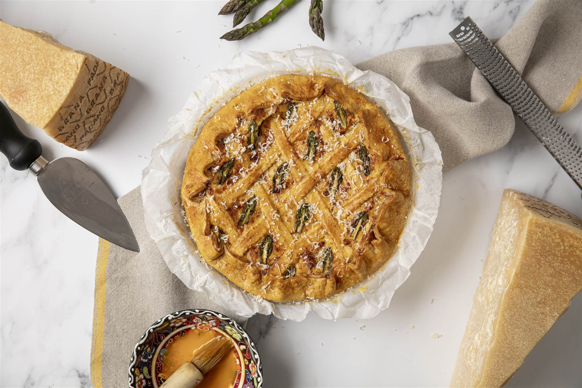 Grana Padano and Asparagus 'Pastiera' (Pie)
