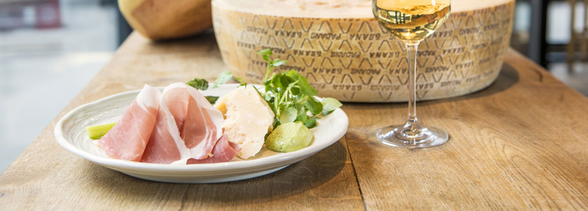 Prosciutto di San Daniele, Shaved Grana Padano, Grilled Asparagus and Watercress Mayonnaise