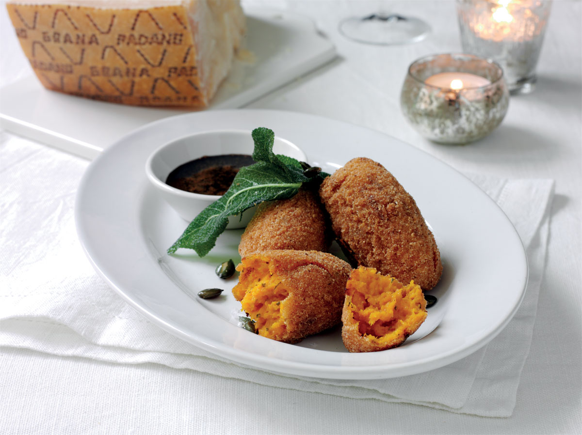 Pumpkin and Grana Padano Croquettes with Balsamic Dip