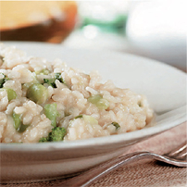 Risotto with vegetables and Grana Padano