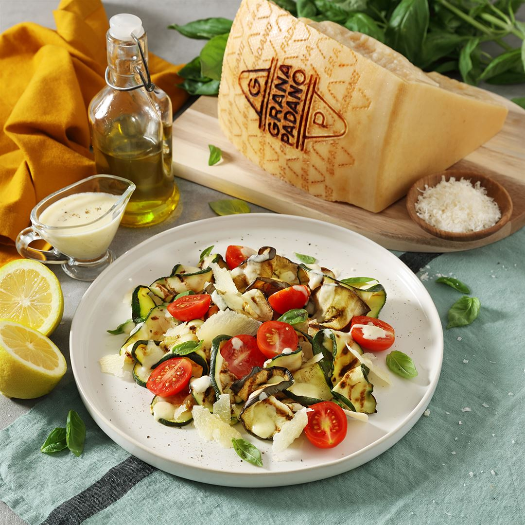 Grilled Vegetables and Grana Padano Dressing