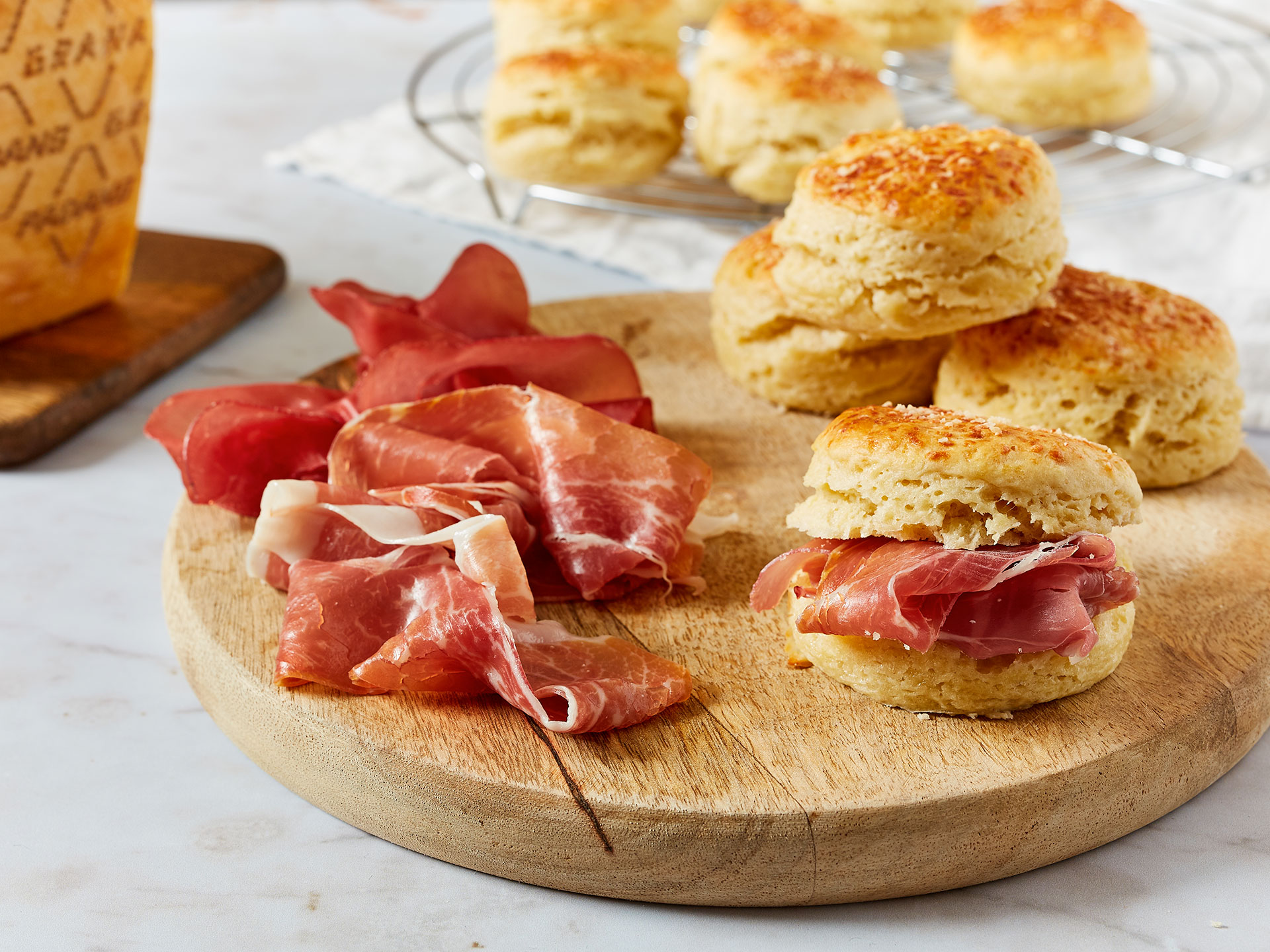 Grana Padano cheese scones