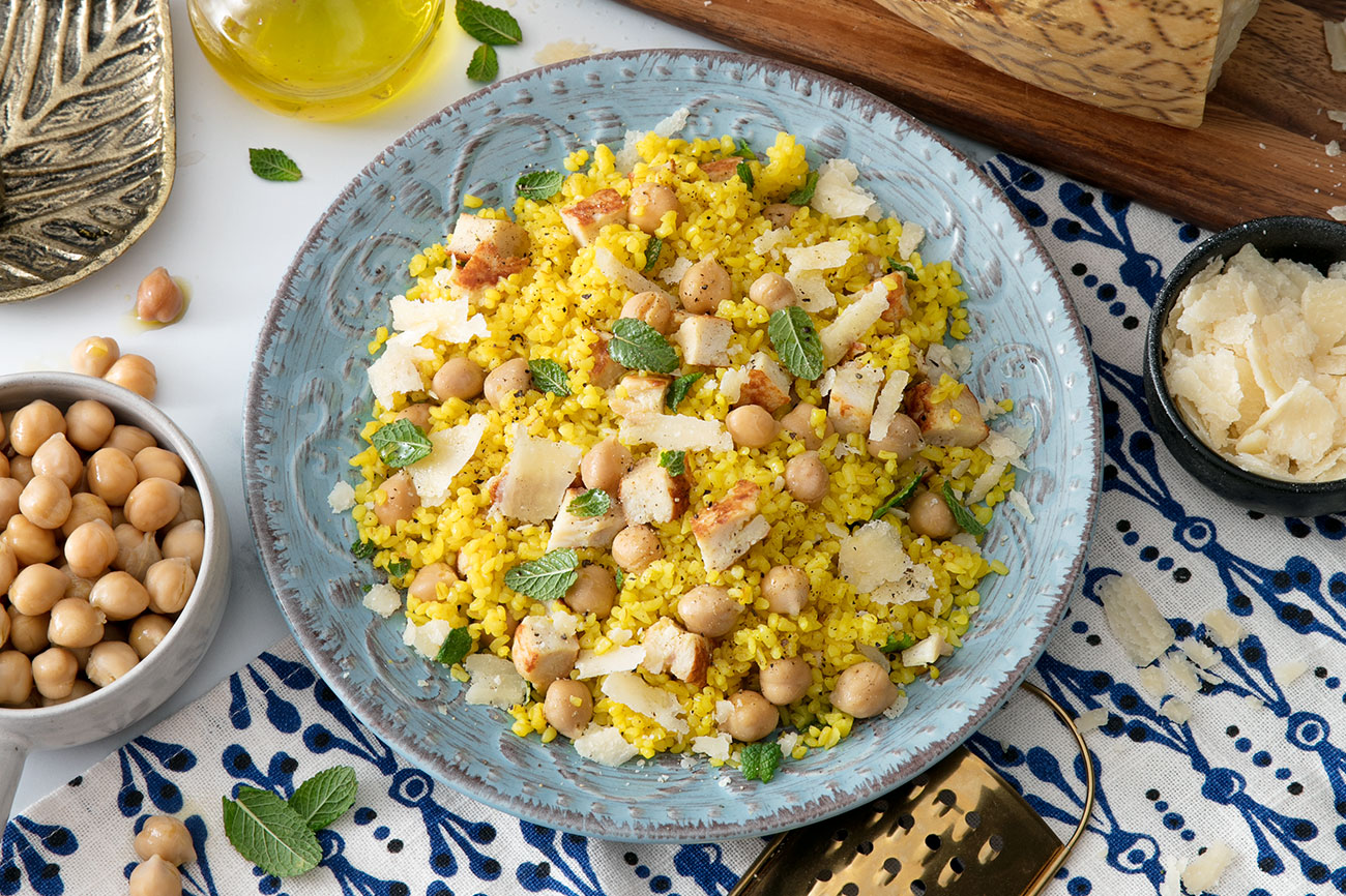 Tabbouleh with Chicken, Chickpeas, Mint and Grana Padano Riserva