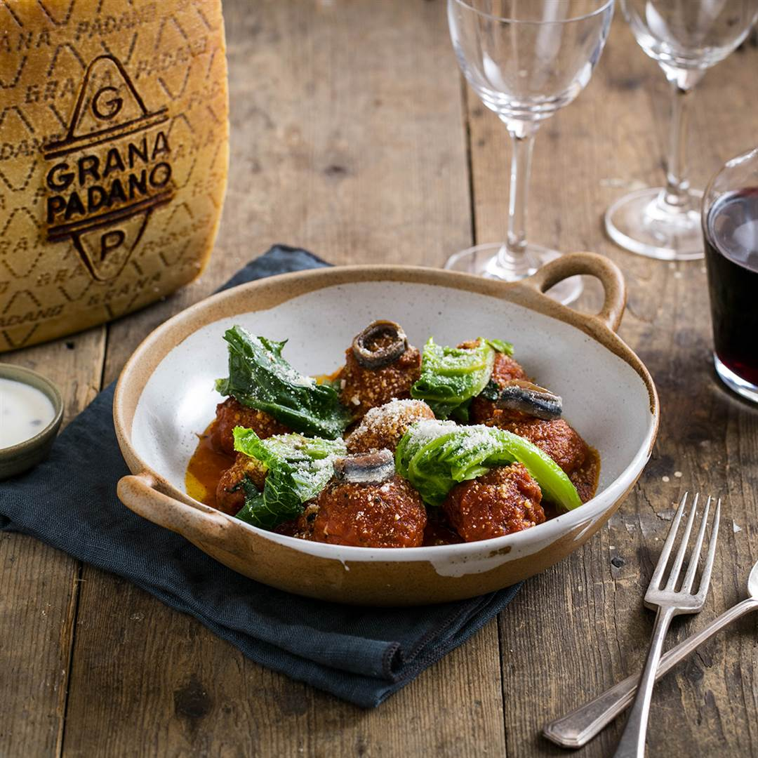 Welsh lamb meatballs with Grana Padano and yoghurt