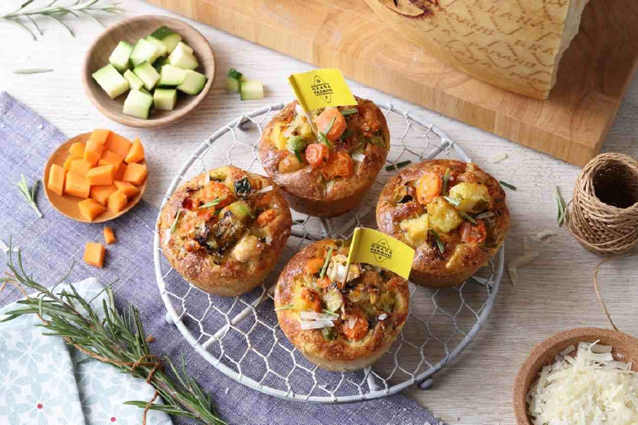 Savoury Muffins with Seasonal Vegetables and Grana Padano Riserva