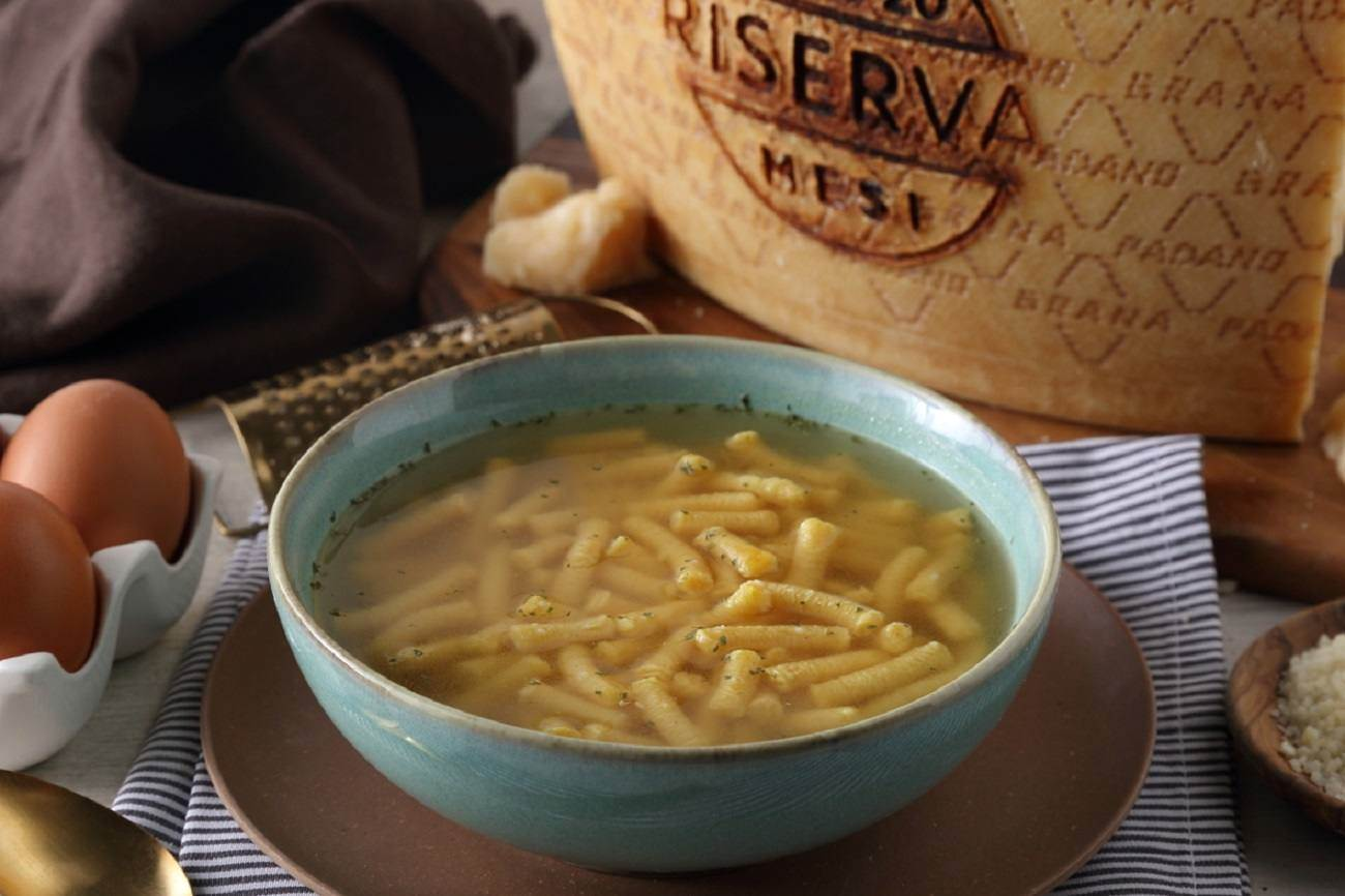 Passatelli in Broth and Grana Padano Riserva