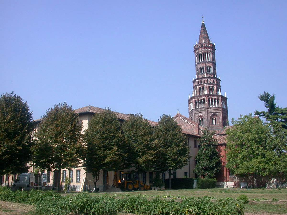 Lantern tower of Chiaravalle Abbey in Milan
